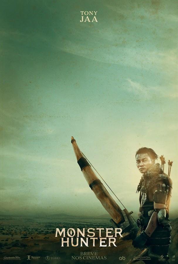 monster hunter teaser poster ft. tony jaa capcom constantin films screen gems sony pictures tencent