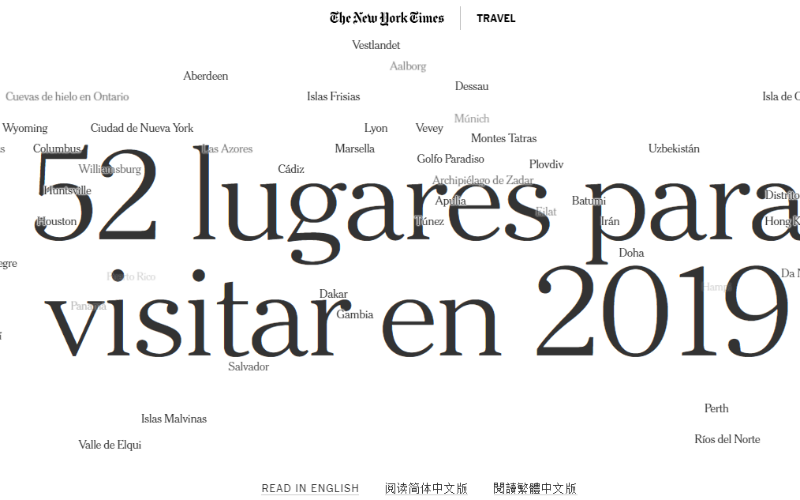 52 travel New York Times 2019