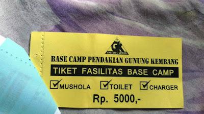 Tiket Fasilitas Basecamp Gunung Kembang