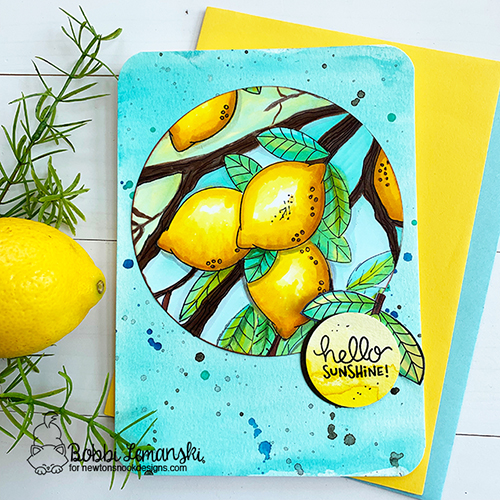 Hello sunshine by Bobbi features Lemon Twist by Newton's Nook Designs; #newtonsnook