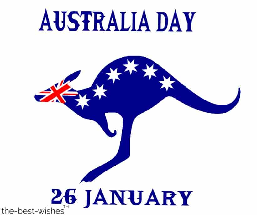 australia day with kangaroo image