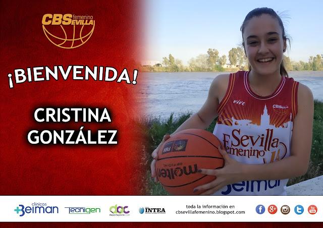 Cristina González se incorpora a la disciplina del equipo júnior