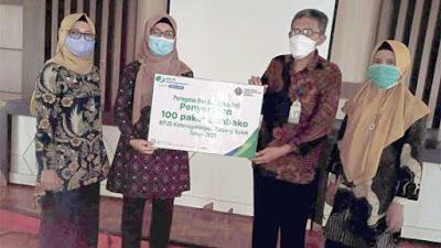 Peduli Hari Buruh, BP Jamsostek Solok Bagi-bagi 100 Paket Sembako