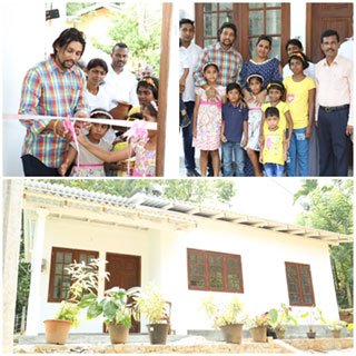 Dilshan donates house to helpless mother who lived with 2 children after husband was electrocuted