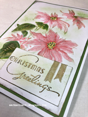 Sara Emily Barker https://sarascloset1.blogspot.com/2020/12/poinsettia-embossing-with-oxides.html 3D Poinsettia Christmas Cards #timholtz #3dpoinsettia #christmas 4
