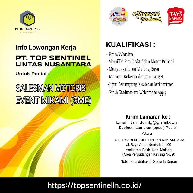 Loker Malang Terbaru PT. TOP SENTINEL LINTAS NUSANTARA