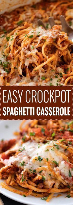 EASY CROCKPOT SPAGHETTI CASSEROLE RECIPES