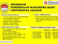 Info Penerimaan Mahasiswa Baru Universitas Asahan TA. 2019/2020