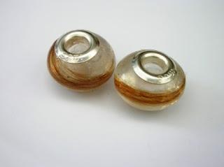 Pandora style beads for locks of hair