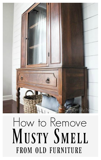 how to remove musty smell from antique furniture