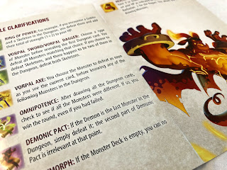 An excerpt from the Welcome to the Dungeon rules book, showing a selection of the hero equipment.