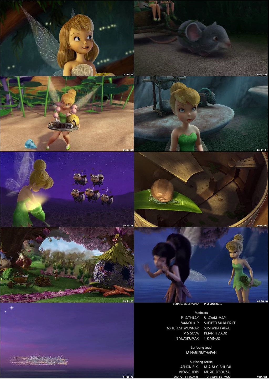 Screen Shot Of Tinker Bell 2008 In Hindi English Dual Audio Bluray