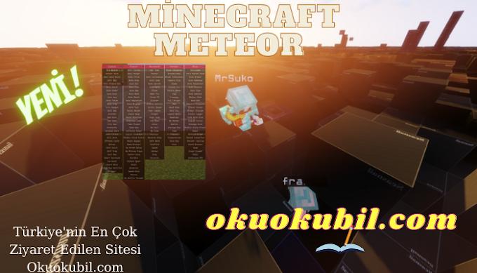 Minecraft 1.16.4  Meteor Client 0.3.8 Evrensel Günümüzün En İyi Hilesi 2021