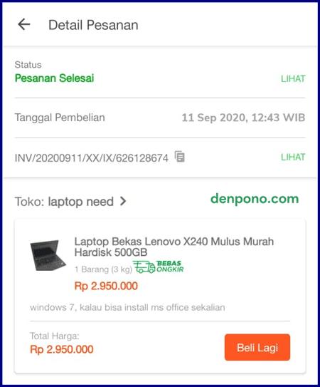 Beli Laptop Lenovo ThinkPad X240 Bekas di Tokopedia
