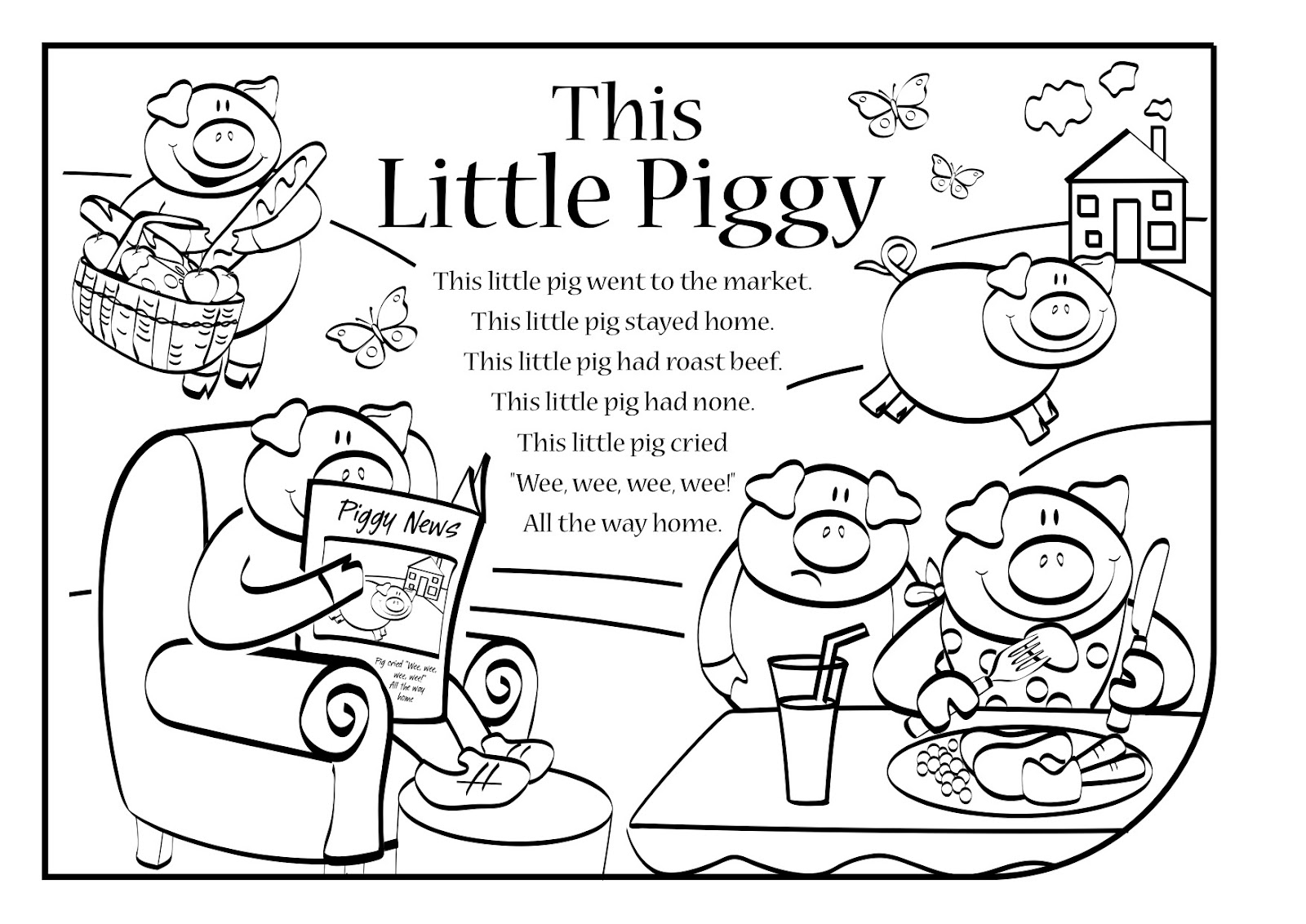 this little piggy coloring pages