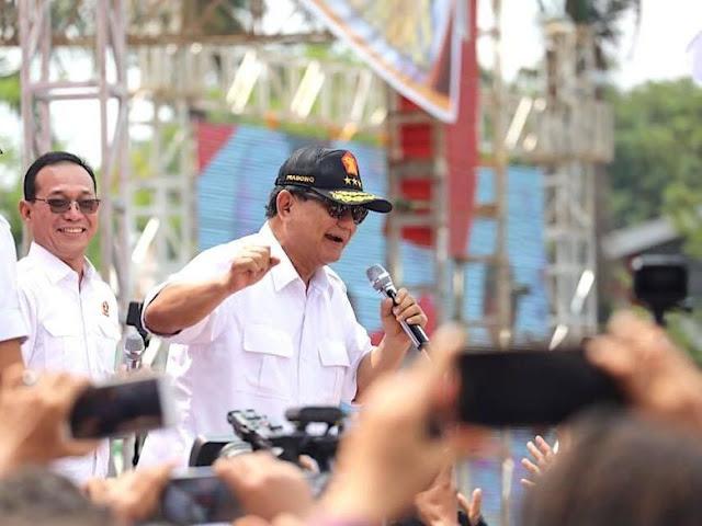 Prabowo Break Pidato Saat Terdengar Azan