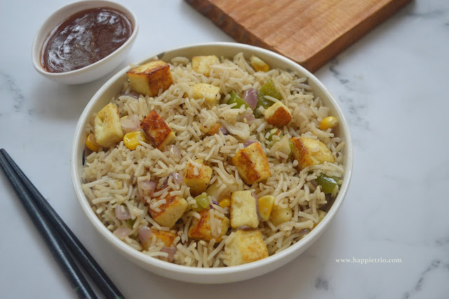 Paneer Fried Rice Recipe | How to make Paneer Fried Rice