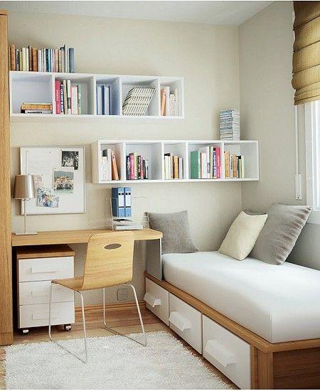25 Desain Kamar Tidur Ukuran Kecil Bergaya Minimalis Modern