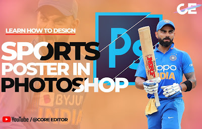 Adobe Photoshop 2020 : How to Design Cricket or Sports Poster in Photoshop.