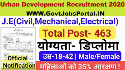 Bihar Urban Development JE Recruitment 2020