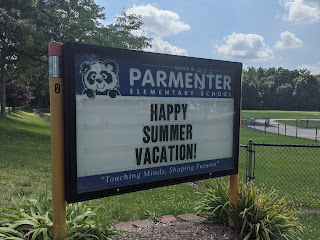 Parmenter school sign for summer 2020
