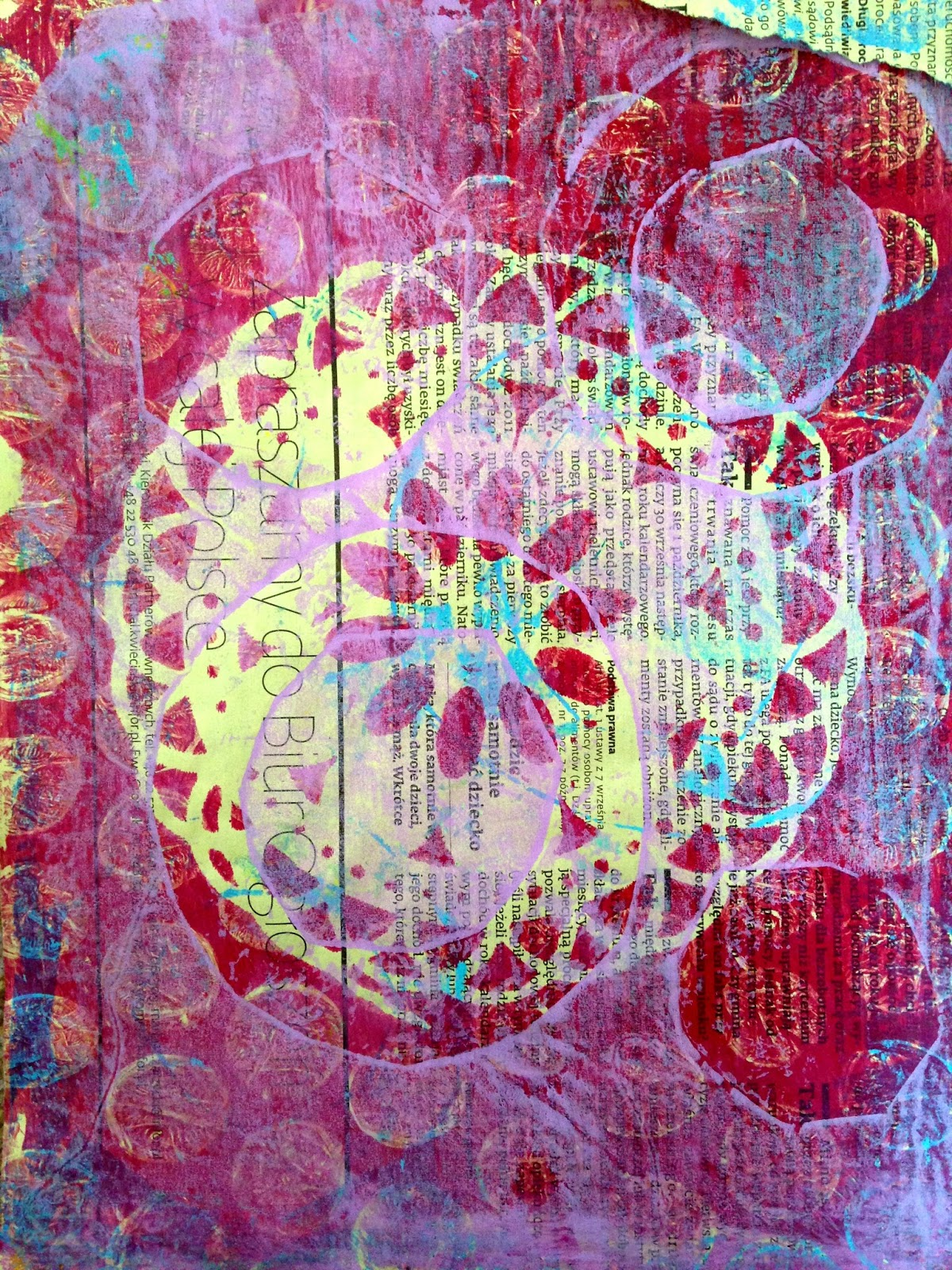 gelli prints fabric unknown posted