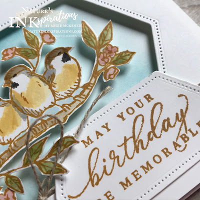 By Angie McKenzie for JOSTTT017 Design Team Inspirations; Click READ or VISIT to go to my blog for details! Featuring the Free as a Bird Stamp Set, Timeless Tropical Stamp Set, So Sentimental Bundle and Stitched Nested Labels Dies; #cardchallenges #handmadecards #josdesignteaminspiration #josttt017 #maycardchallenge #linenthread #fussycutting  #birthdaycards #freeasabirdstampset #timelesstropicalstampset #sosentimentalbundle  #stitchednestedlabelsdies #stampinup #cardtechniques
