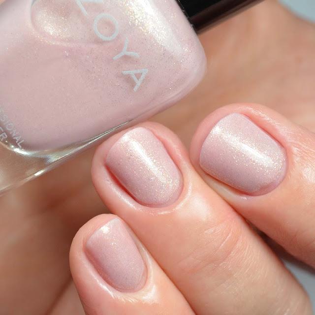 pink shimmer nail polish