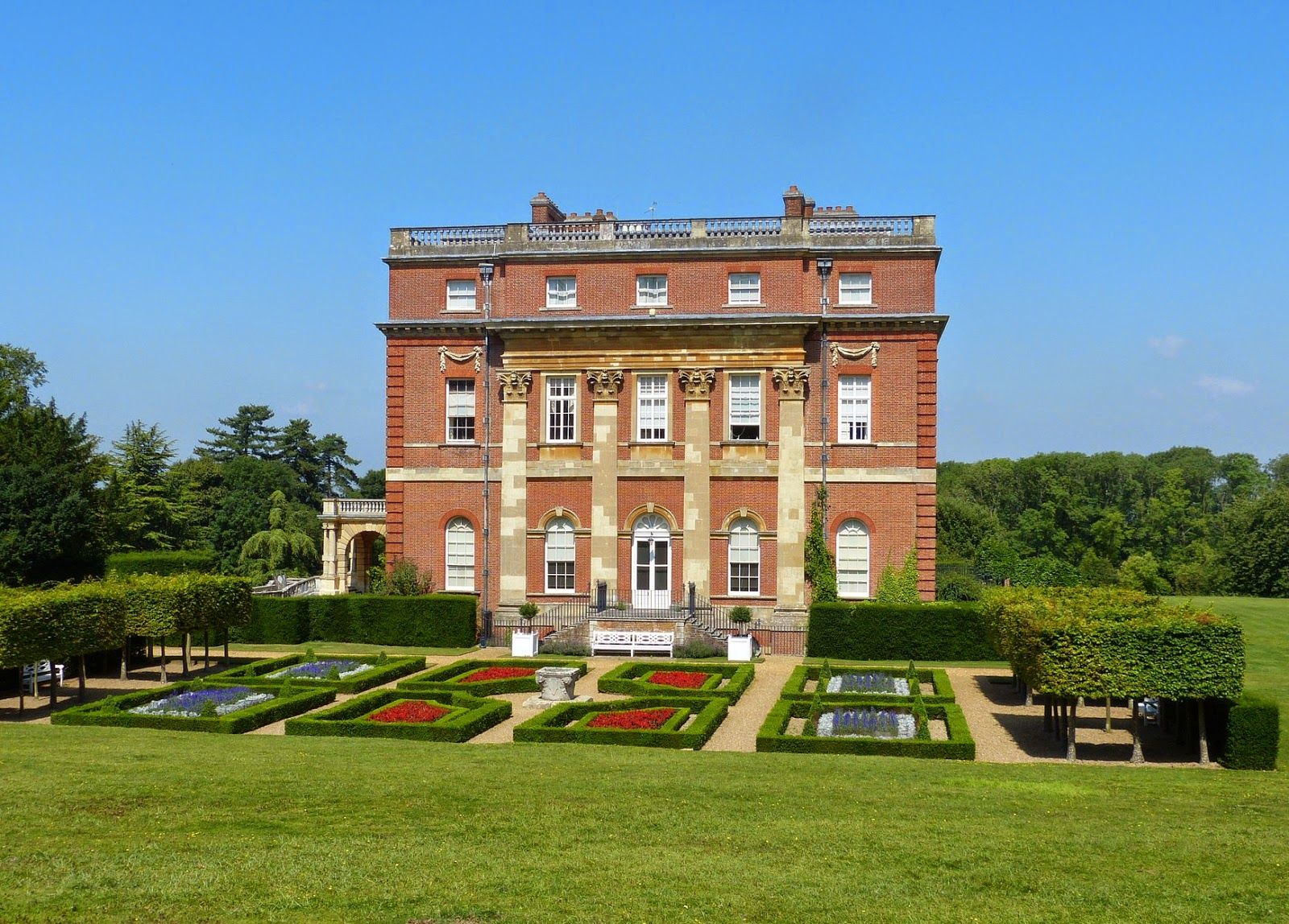 Clandon Park - from the back