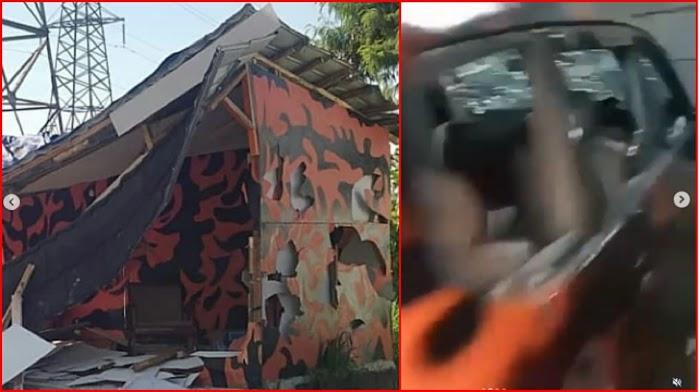 Diduga Pukuli Perwira Kopassus, Prajurit Baret Merah Ratakan Markas Pemuda Pancasila