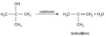 FAMERP 2021: A equação representa a reação de produção do isobutileno, um gás utilizado em sínteses orgânicas:
