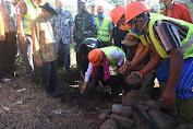 UNDP Bantu Bangun Saluran Kawasan Mata Air Lokok Greneng Sambik Elen
