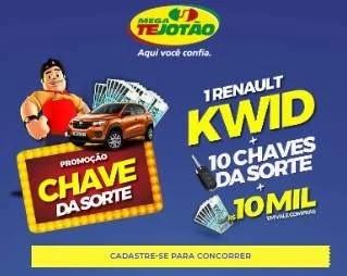 Cadastrar Promoção Chave da Sorte Mega Tejotão Supermercados