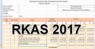 Download (Rencana Kegiatan dan Anggaran Sekolah) RKAS BOS 2017