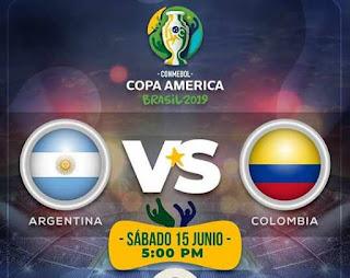 ملخص مباراة الارجنتين ضد كولومبيا مباشرة اليوم في كوبا امريكا 2019