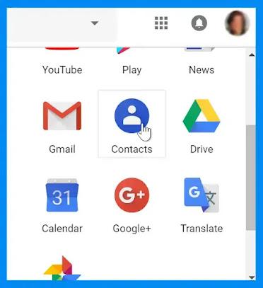 إضافة جهة اتصال لحساب Gmail