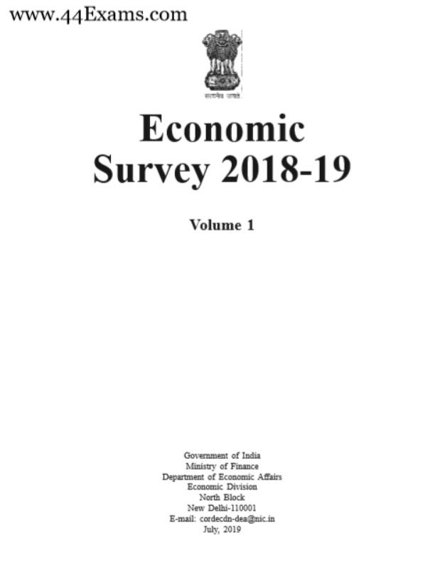 Economic Review 2018-19 : For UPSC Exam PDF Book