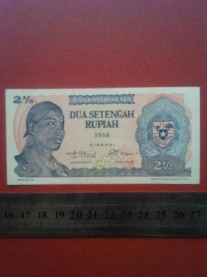 2 1/2 rupiah tahun 1968