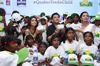 Shriya Saran and Meenakshi Dixit Pos at Quaker Feed A Child Campaign  0046.jpg