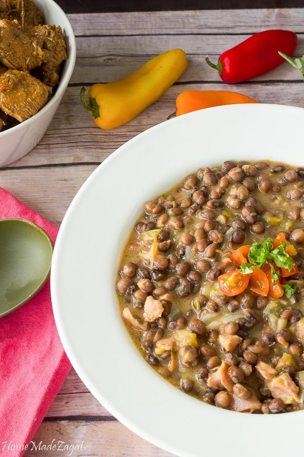 Easy Stewed Pigeon Peas with Smoked Turkey