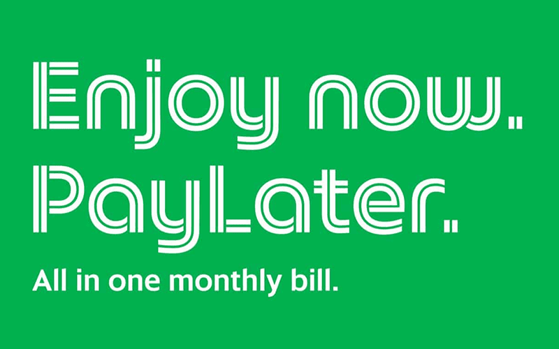 Use Grab services now, PayLater with a month bill