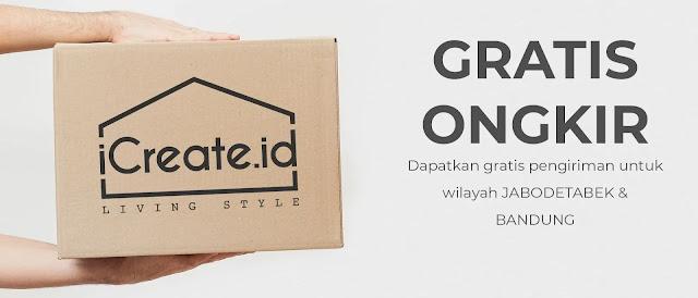 Gratis Ongkir belanja Furniture Online di iCreate.id