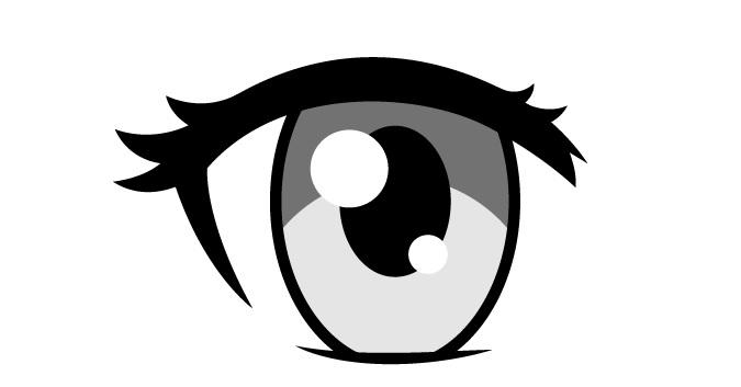 Bulu mata atas mata anime wanita