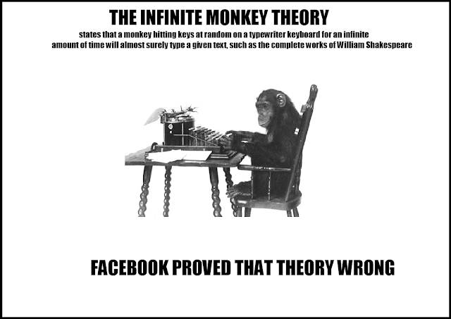 Image result for images of infinite monkey with typewriter