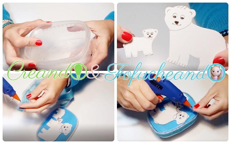 Detalles-cajita-para-regalo-con-envase-de-plástico-y-goma-eva-manualidades-navideñas-con-osos-polares-creandoyfofucheando