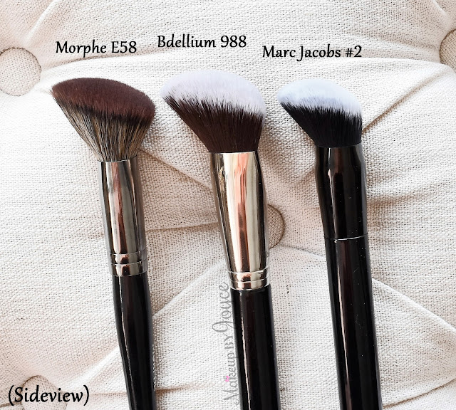 Marc Jacobs 2 Sculpting Foundation Brush Morphe E58 Bdellium Tools 988 Review Dupe
