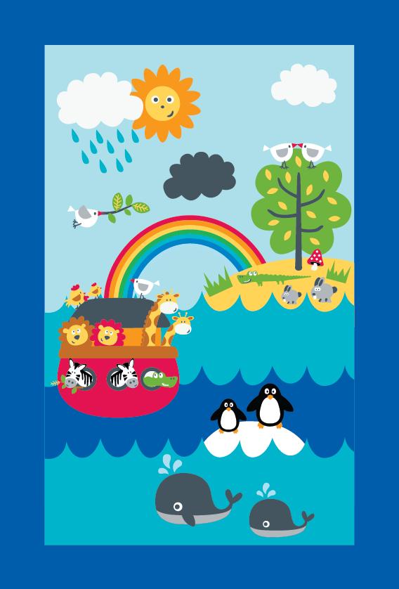 Emily Kiddy: Noah's Ark Prints - Part One - Baby's Bed Set