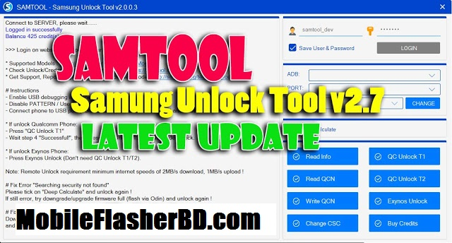 Download SamTool v2.0.0.7 Latest Version Best Samsung Country Unlocker Free Download