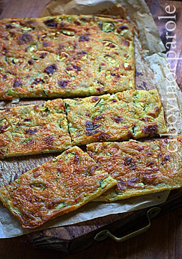 Schiaccia con zucchine - ricetta