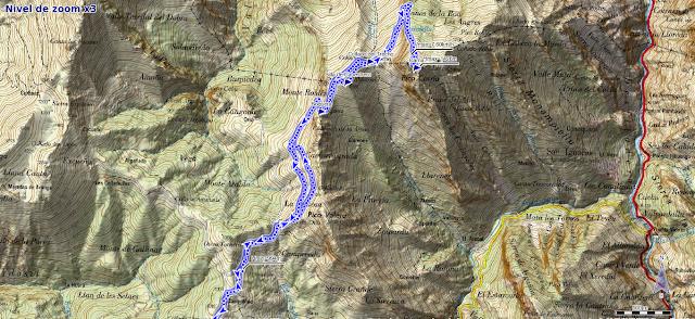 Mapa ruta Collada Llomena Carriá